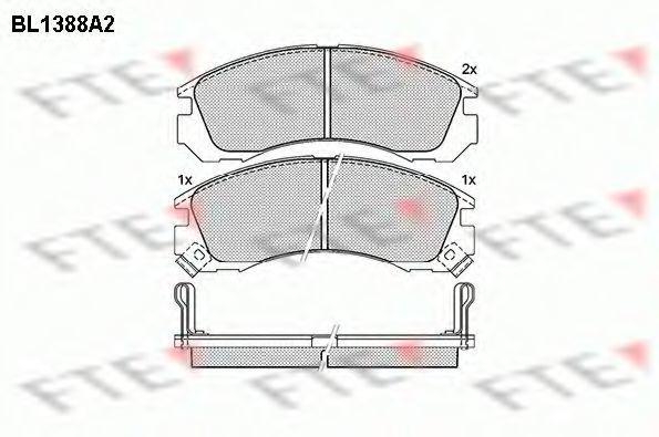 Комплект тормозных колодок, дисковый тормоз FTE BL1388A2