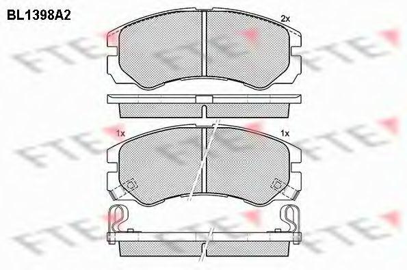 Комплект тормозных колодок, дисковый тормоз FTE BL1398A2