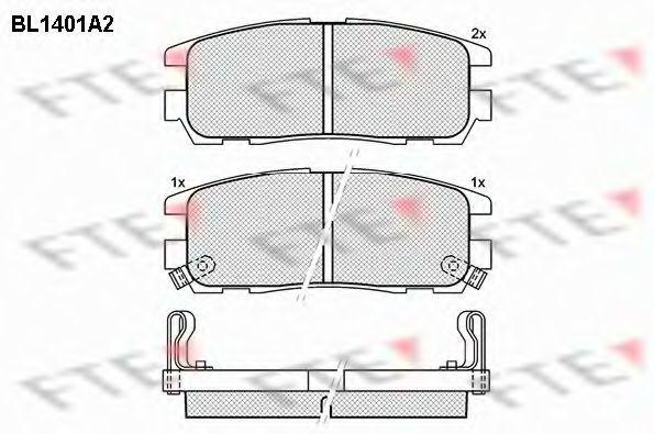 Комплект тормозных колодок, дисковый тормоз FTE BL1401A2