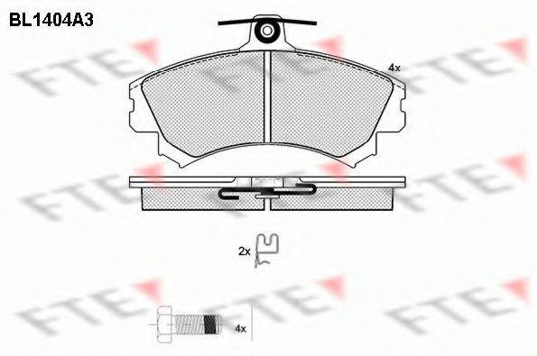 Комплект тормозных колодок, дисковый тормоз FTE BL1404A3