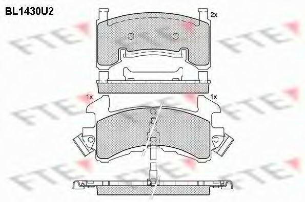 Комплект тормозных колодок, дисковый тормоз FTE BL1430U2