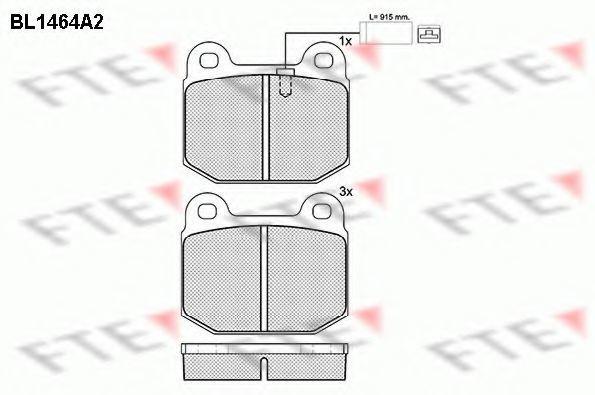 Комплект тормозных колодок, дисковый тормоз FTE BL1464A2