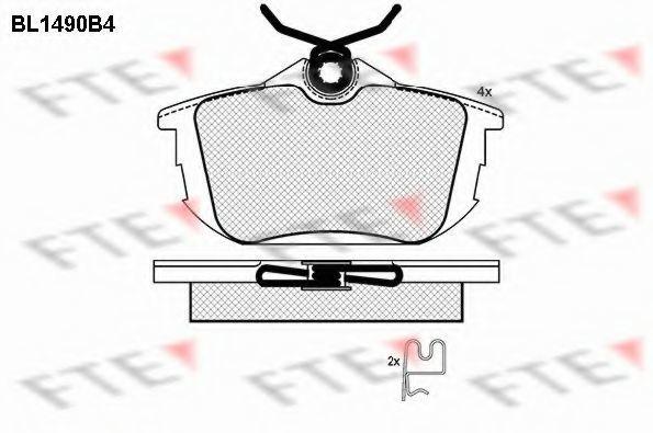 Комплект тормозных колодок, дисковый тормоз FTE BL1490B4
