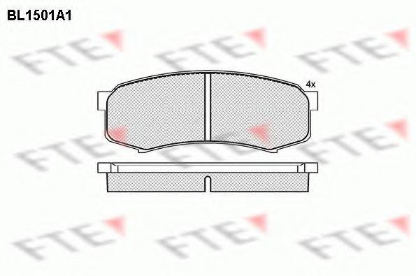 Комплект тормозных колодок, дисковый тормоз FTE BL1501A1