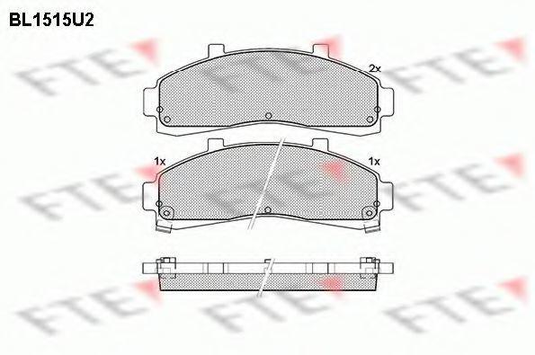 Комплект тормозных колодок, дисковый тормоз FTE BL1515U2
