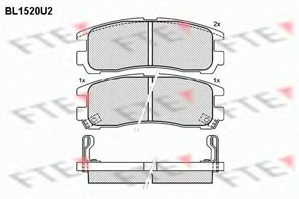 Комплект тормозных колодок, дисковый тормоз FTE BL1520U2