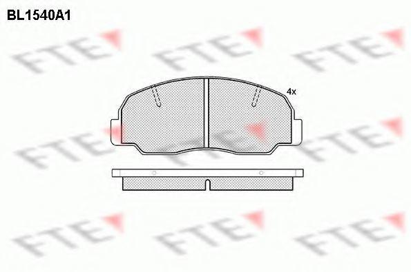 Комплект тормозных колодок, дисковый тормоз FTE BL1540A1