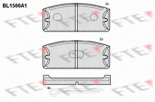 Комплект тормозных колодок, дисковый тормоз FTE BL1566A1