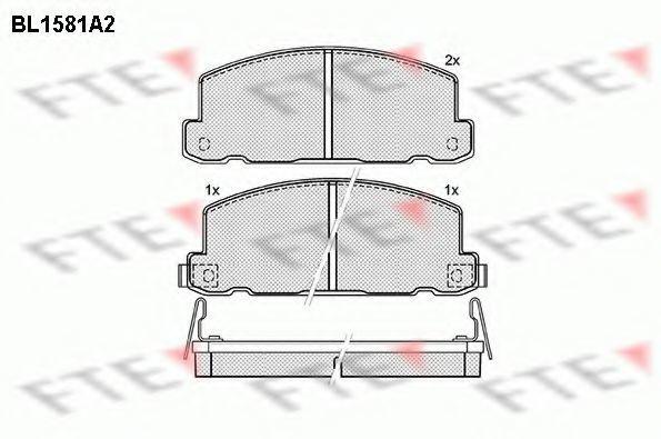 Комплект тормозных колодок, дисковый тормоз FTE BL1581A2