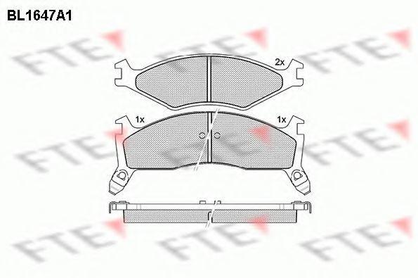 Комплект тормозных колодок, дисковый тормоз FTE BL1647A1