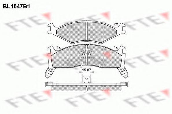 Комплект тормозных колодок, дисковый тормоз FTE BL1647B1