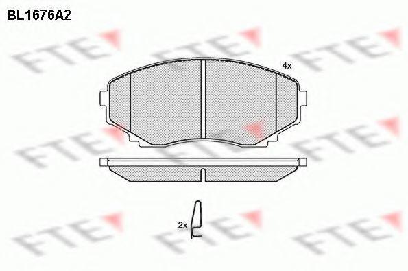 Комплект тормозных колодок, дисковый тормоз FTE BL1676A2