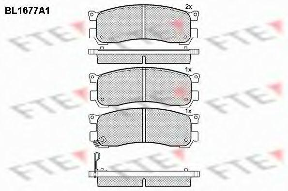 Комплект тормозных колодок, дисковый тормоз FTE BL1677A1