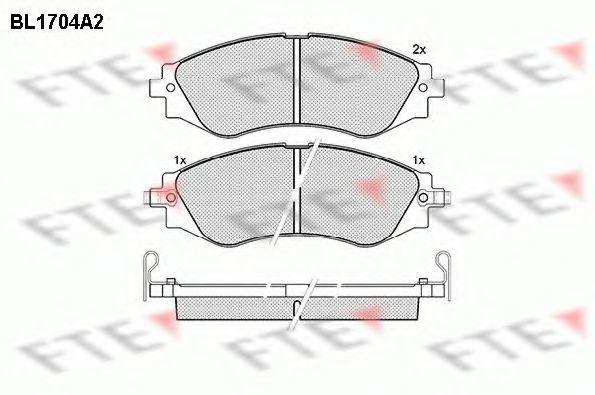 Комплект тормозных колодок, дисковый тормоз FTE BL1704A2