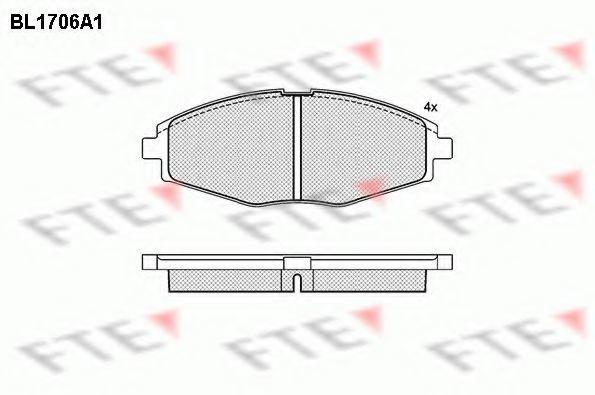 Комплект тормозных колодок, дисковый тормоз FTE BL1706A1