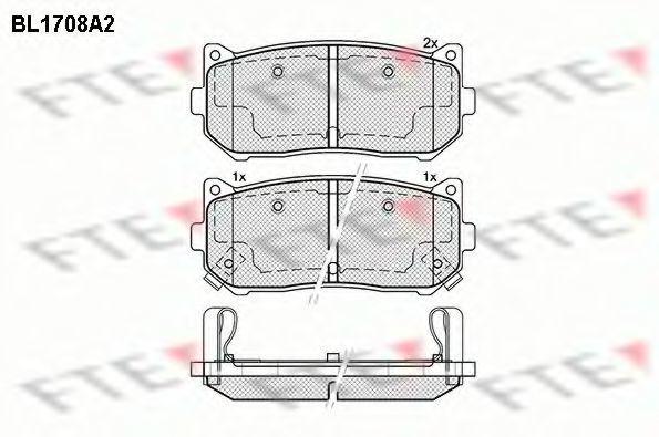 Комплект тормозных колодок, дисковый тормоз FTE BL1708A2