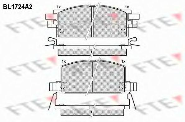 Комплект тормозных колодок, дисковый тормоз FTE BL1724A2