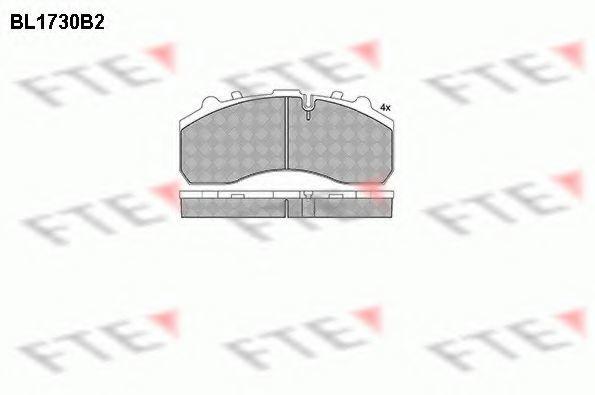 Комплект тормозных колодок, дисковый тормоз FTE BL1730B2