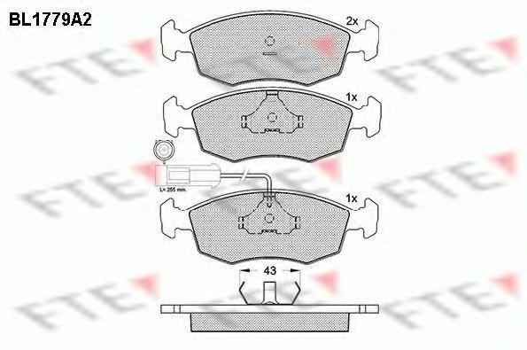 Комплект тормозных колодок, дисковый тормоз FTE BL1779A2