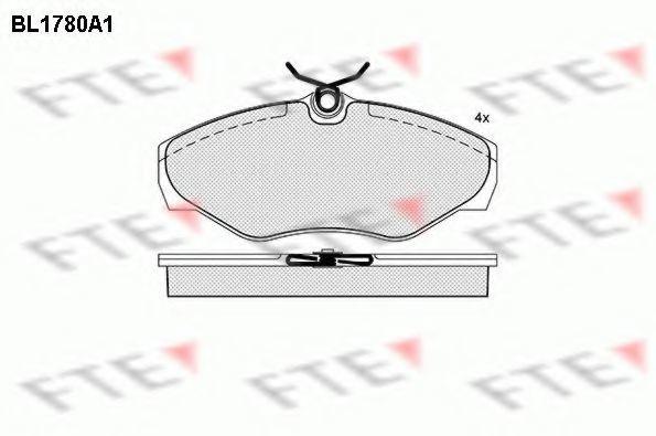 Комплект тормозных колодок, дисковый тормоз FTE BL1780A1