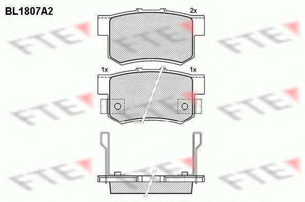Комплект тормозных колодок, дисковый тормоз FTE BL1807A2