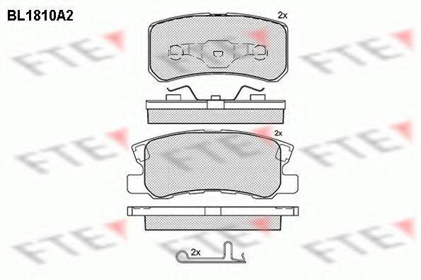 Комплект тормозных колодок, дисковый тормоз FTE BL1810A2
