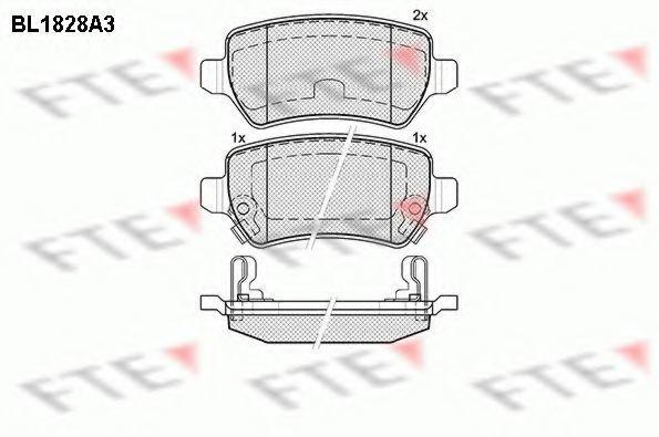 Комплект тормозных колодок, дисковый тормоз FTE BL1828A3