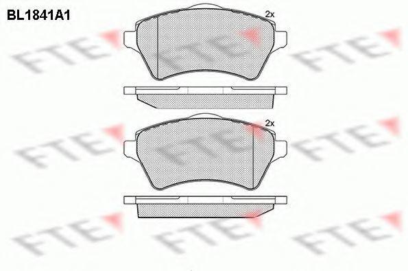 Комплект тормозных колодок, дисковый тормоз FTE BL1841A1