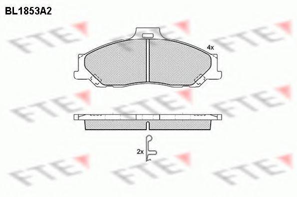 Комплект тормозных колодок, дисковый тормоз FTE BL1853A2