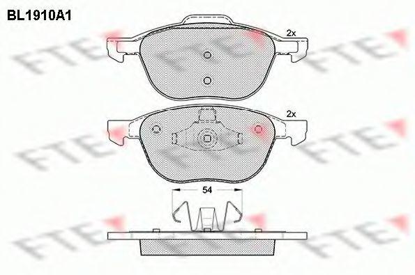 Комплект тормозных колодок, дисковый тормоз FTE BL1910A1