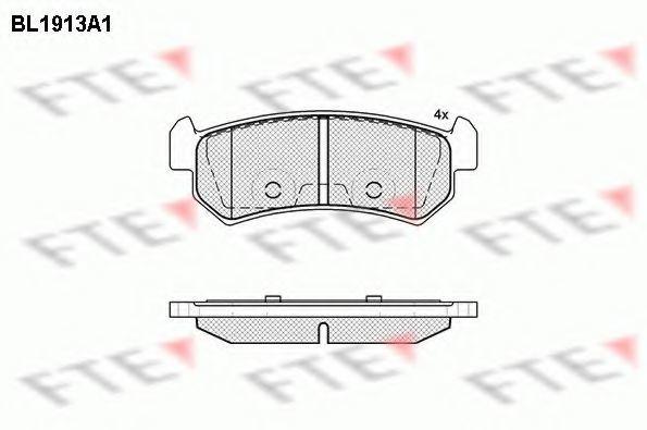 Комплект тормозных колодок, дисковый тормоз FTE BL1913A1