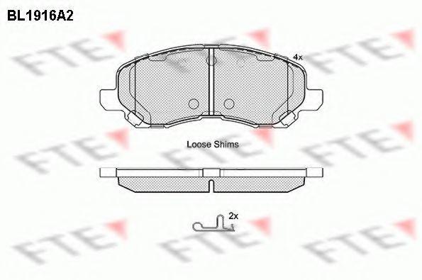 Комплект тормозных колодок, дисковый тормоз FTE BL1916A2