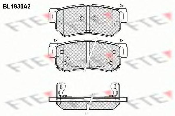 Комплект тормозных колодок, дисковый тормоз FTE BL1930A2