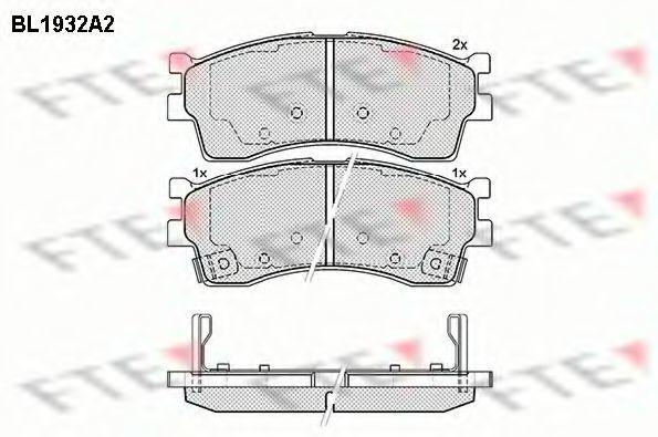 Комплект тормозных колодок, дисковый тормоз FTE BL1932A2