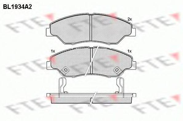 Комплект тормозных колодок, дисковый тормоз FTE BL1934A2