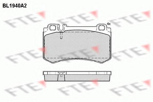 Комплект тормозных колодок, дисковый тормоз FTE BL1940A2