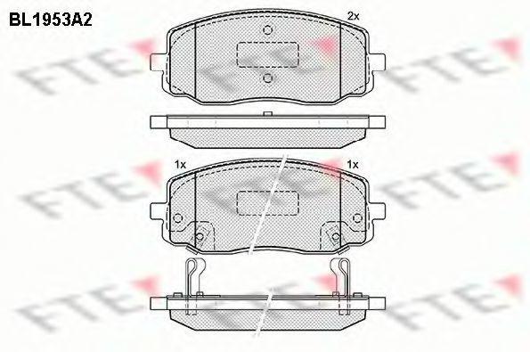 Комплект тормозных колодок, дисковый тормоз FTE BL1953A2