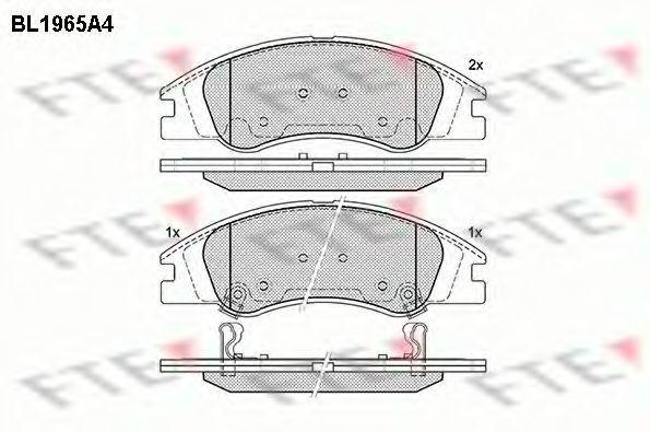 Комплект тормозных колодок, дисковый тормоз FTE BL1965A4