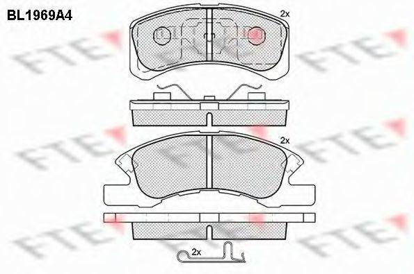 Комплект тормозных колодок, дисковый тормоз FTE BL1969A4