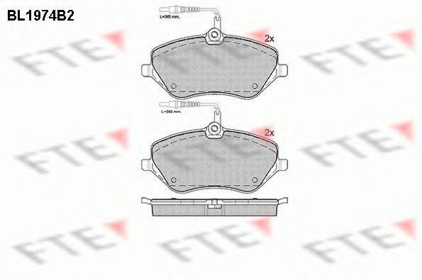 Комплект тормозных колодок, дисковый тормоз FTE BL1974B2