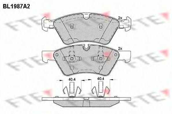 Комплект тормозных колодок, дисковый тормоз FTE BL1987A2