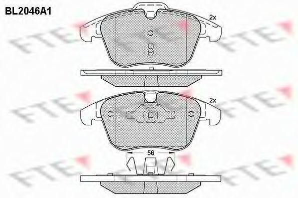 Комплект тормозных колодок, дисковый тормоз FTE BL2046A1