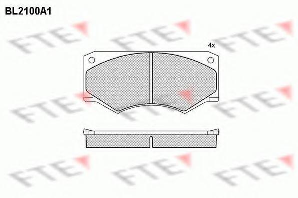 Комплект тормозных колодок, дисковый тормоз FTE BL2100A1