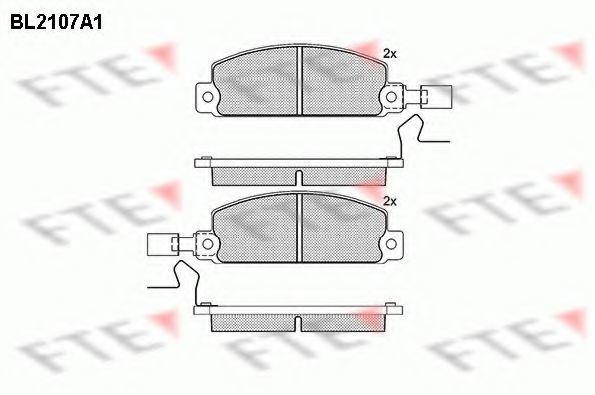 Комплект тормозных колодок, дисковый тормоз FTE BL2107A1