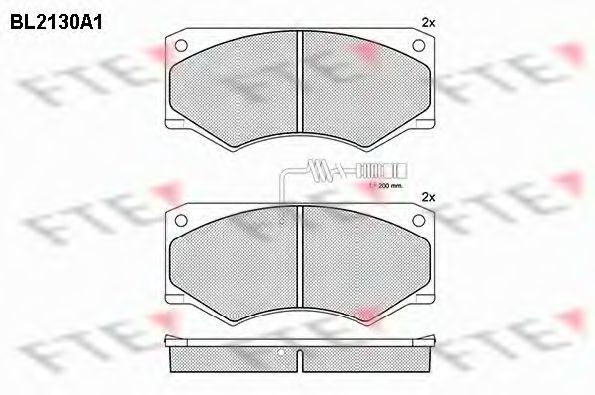 Комплект тормозных колодок, дисковый тормоз FTE BL2130A1