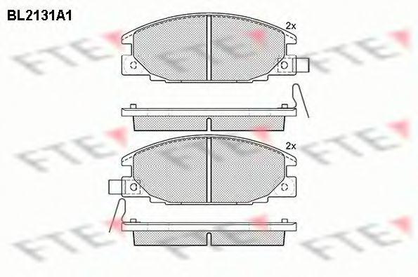 Комплект тормозных колодок, дисковый тормоз FTE BL2131A1