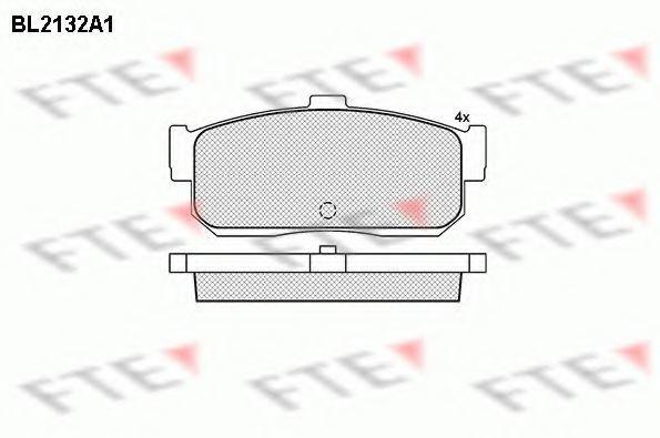 Комплект тормозных колодок, дисковый тормоз FTE BL2132A1