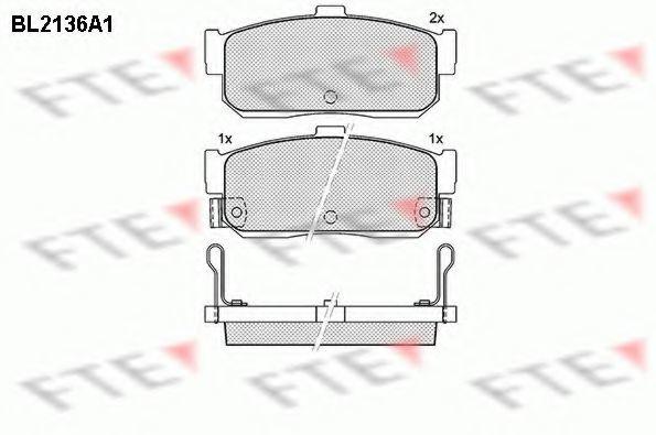 Комплект тормозных колодок, дисковый тормоз FTE BL2136A1