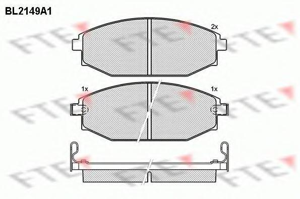 Комплект тормозных колодок, дисковый тормоз FTE BL2149A1