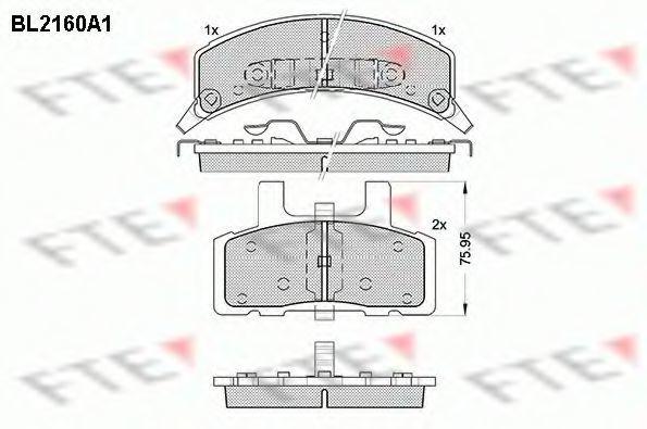 Комплект тормозных колодок, дисковый тормоз FTE BL2160A1